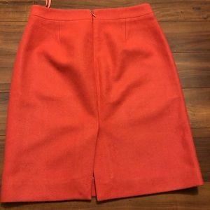 J.Crew Pencil Wool Skirt in Coral size 4
